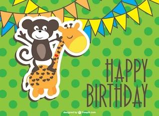 Free cartoon birthday design