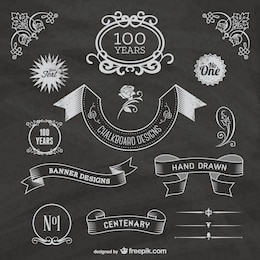 Free chalkboard centenary celebration