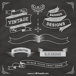 Free chalkboard grapic elements poster