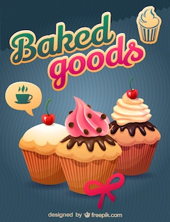 Free cupcake vector art