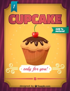 free cupcake vector download