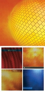 Free dense texture vector background sphere yellow orange blue abstract smart