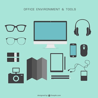 Free flat vector graphic elements
