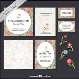 Free floral mock-up set