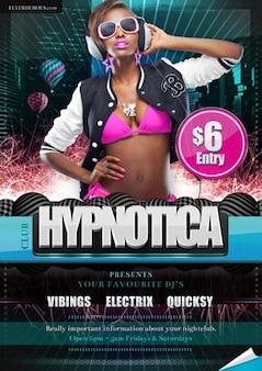 free flyer friday   – hypnotica club flyer template