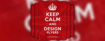 free flyer friday   – keep calm and carry n flyer   poster template