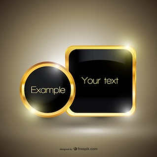 Free golden luxury template