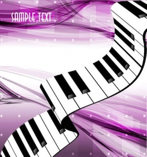 Free gorgeous piano key background  vector light pink music bright line abstrack beautiful