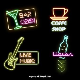 Free neon signs vectors