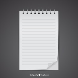 Free notebook mockup vector
