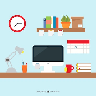 Free office desk simple design