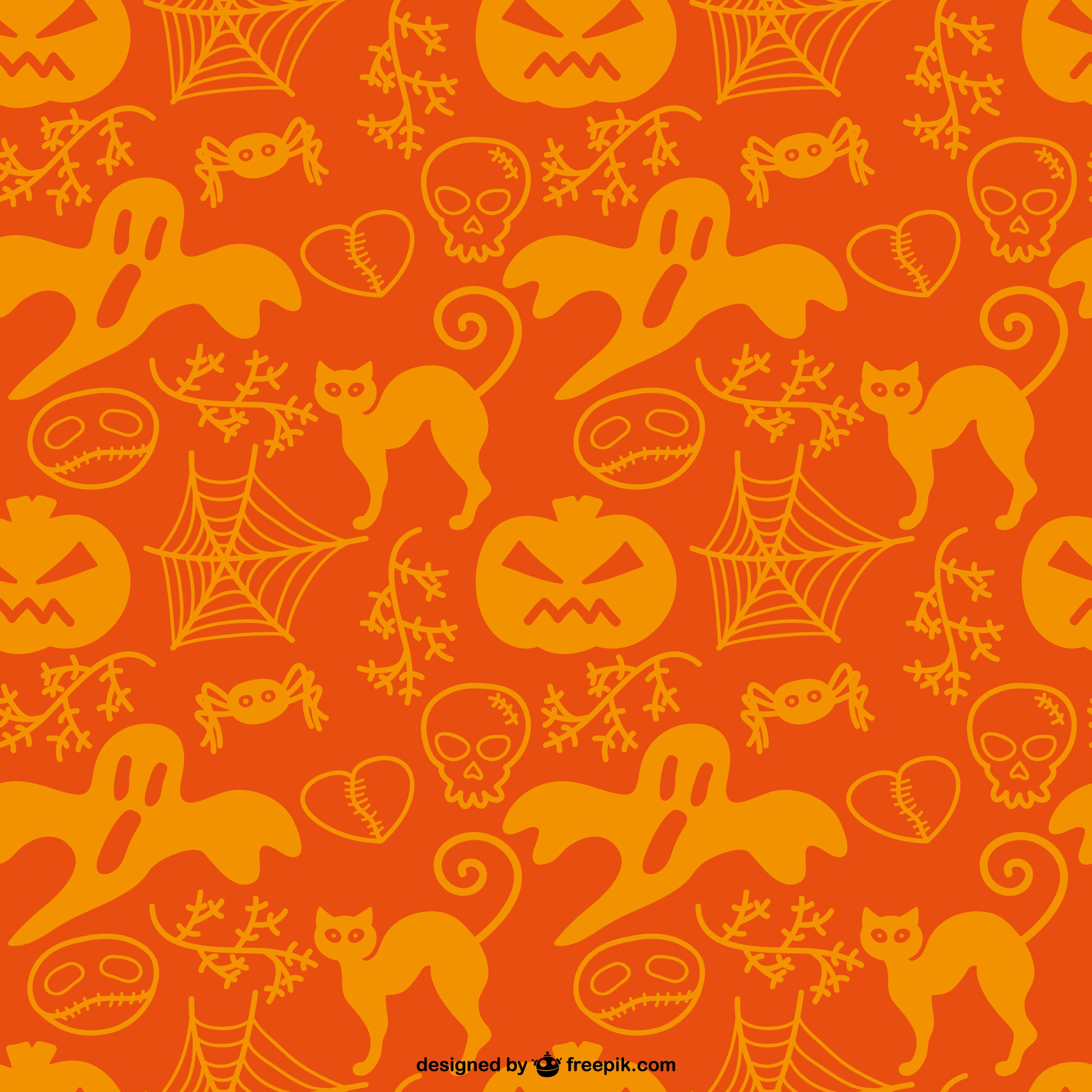 Free pattern of halloween silhouettes