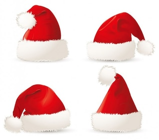 free red christmas santa hats