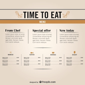 Free restaurant menu graphics