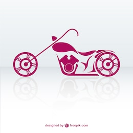 Free retro motorbike vector