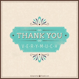 Free retro thank you card