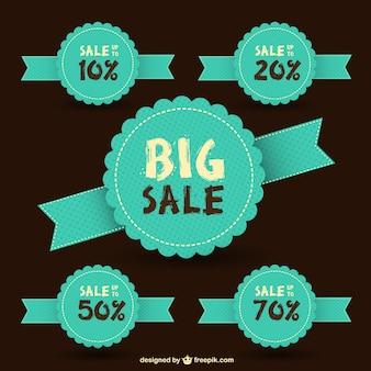 Free sale vector retro stickers