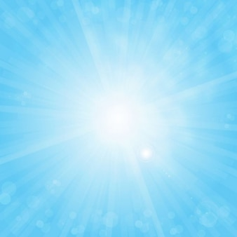 free sun on blue sky vector background