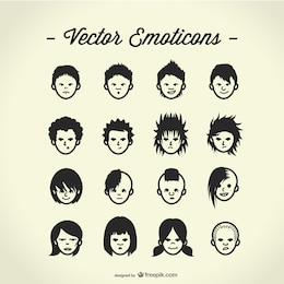 Free vector avatars set
