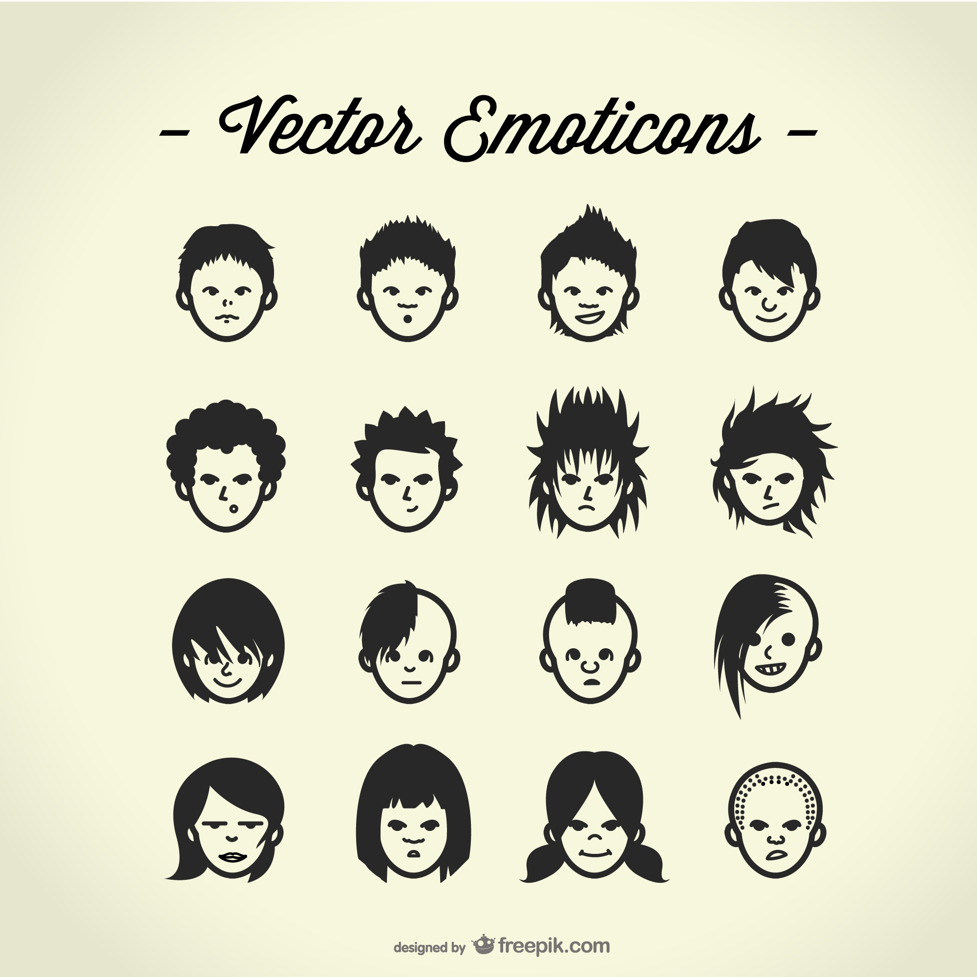 Free vector avatars set