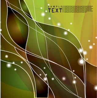 Free vector background particularly unusual dynamic line abstract wave flow green bright smart