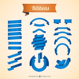Free vector blue ribbons