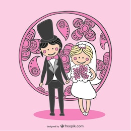 Free vector bride and groom