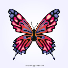 Free vector butterfly design
