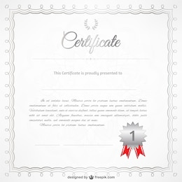 Free vector certificate template