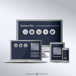 Free vector collection of screens