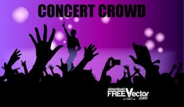 Free Vector Concert Crowd
