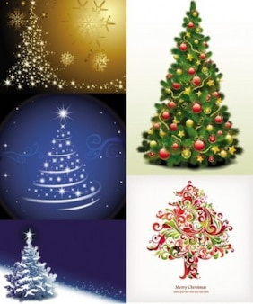 free vector exquisite christmas tree