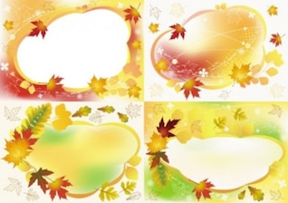 free vector misc beautiful autumn photo frame