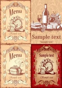 free vector misc menu cover