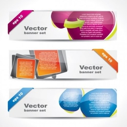 free vector of web banner boutique