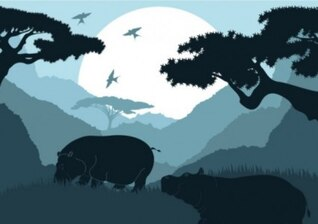 free vector pattern of animal silhouette