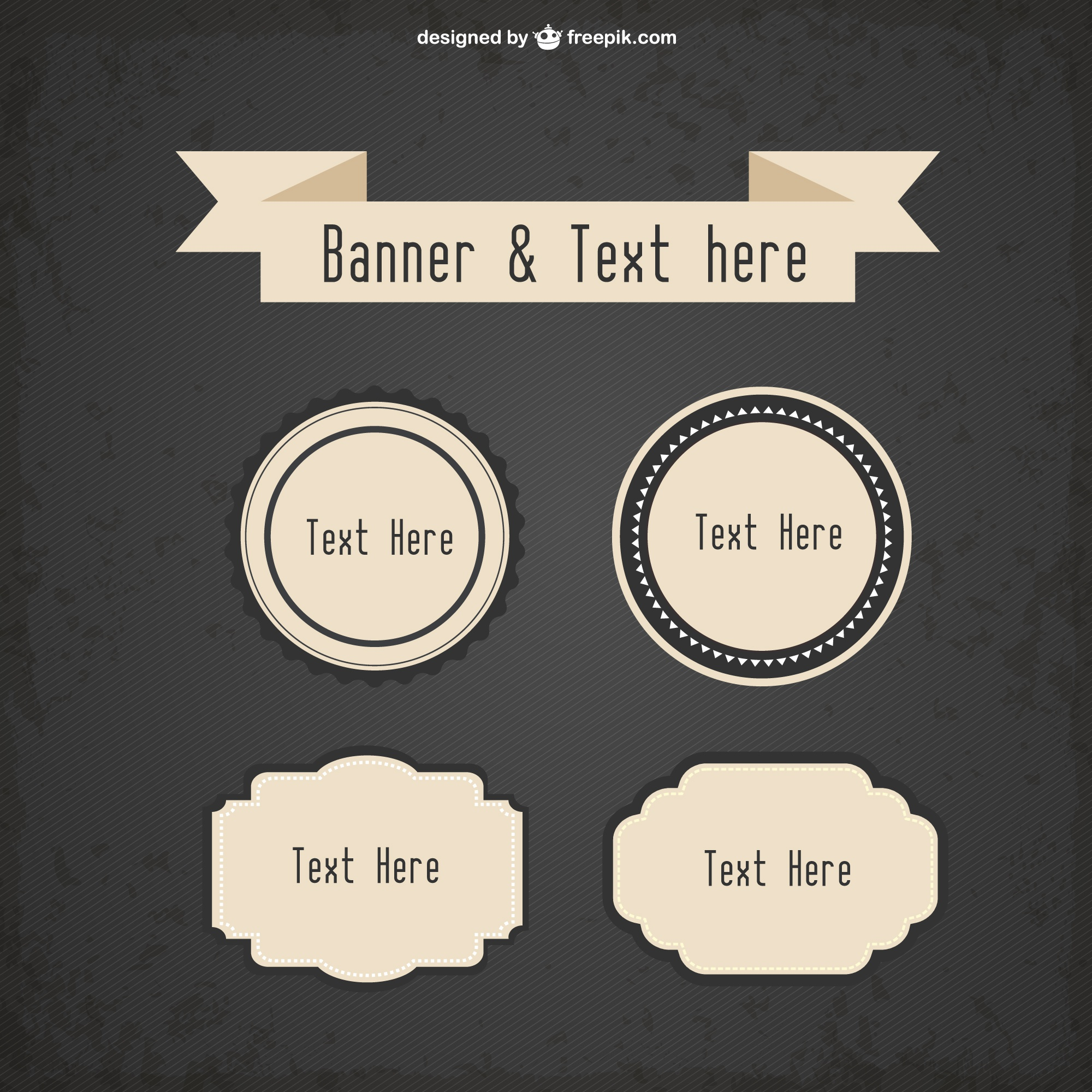 Free vector retro promotion banners