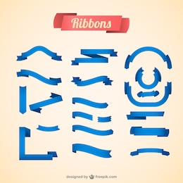 Free vector ribbons blue design