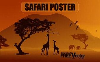 Free Vector Safari Poster
