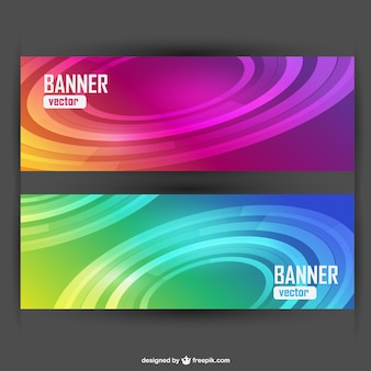 Free vector set of banners