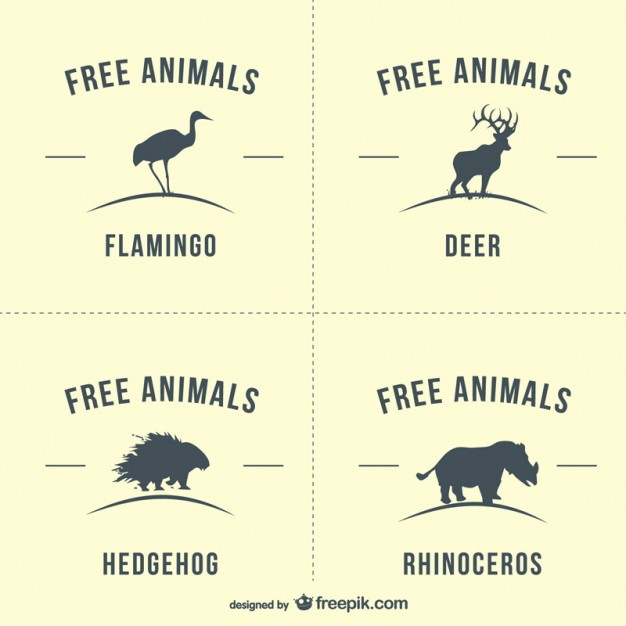 Free vector silhouettes of animals