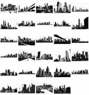 free vector skylines vector pack