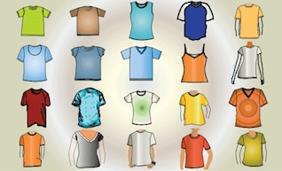 free vector t shirt template