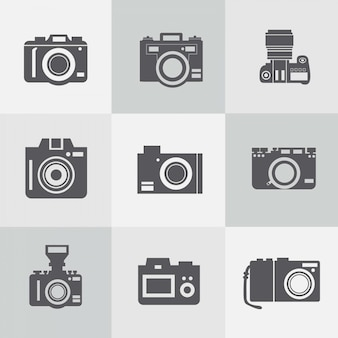 Free vintage photo cameras vector collection