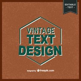 Free vintage text design