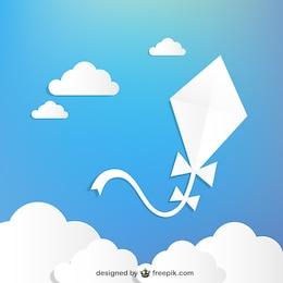 Free white kite vector