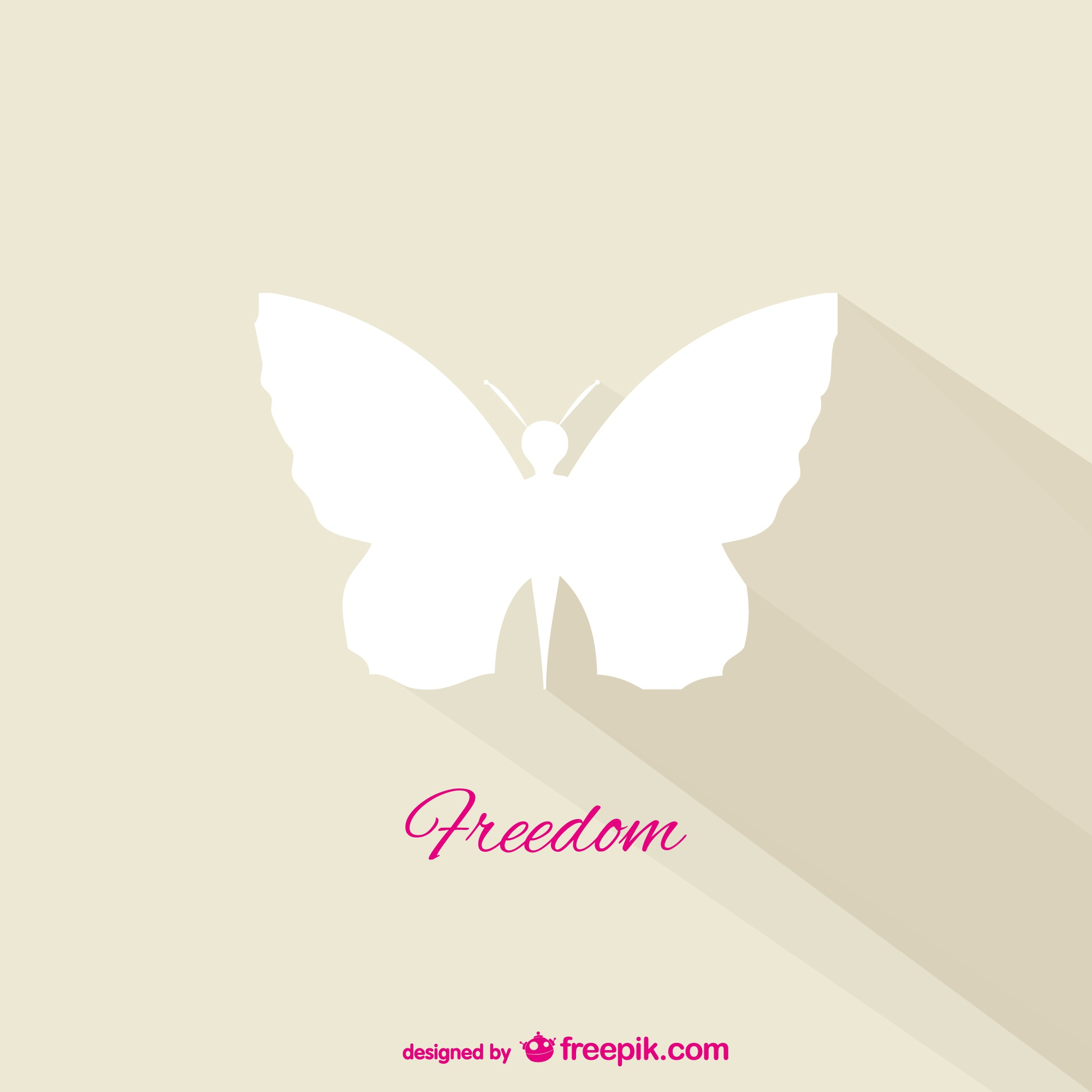 Freedom butterfly vector
