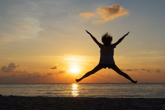 Jumping at sunset photo free download for Jump the gap