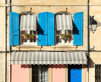 French windows provencal style