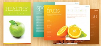 Fresh brochure template PSD